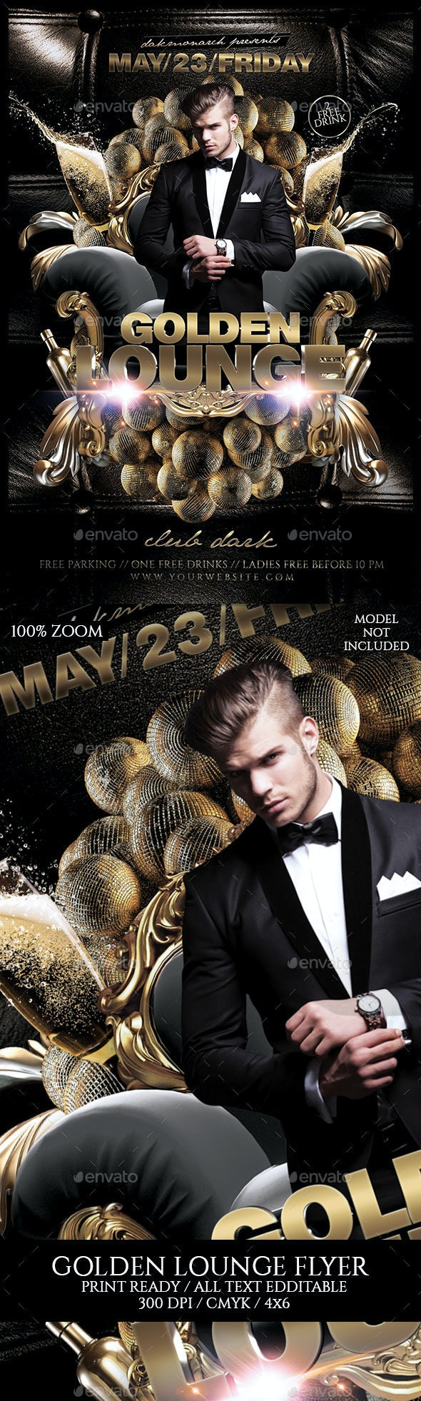 Golden Lounge - Events Flyers