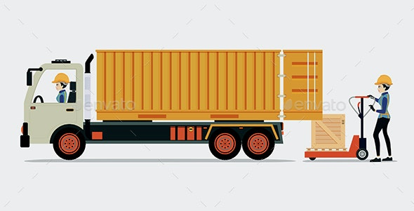 Container Truck - Services Commercial / Shopping