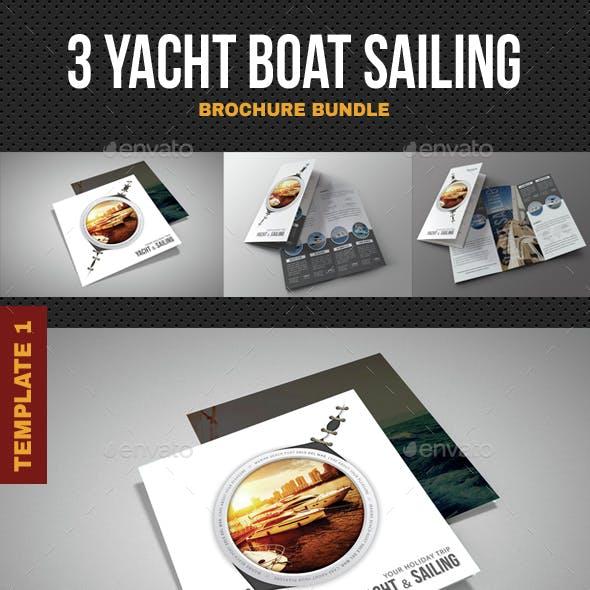 3 Yacht Boat Sailing Brochure Bundle