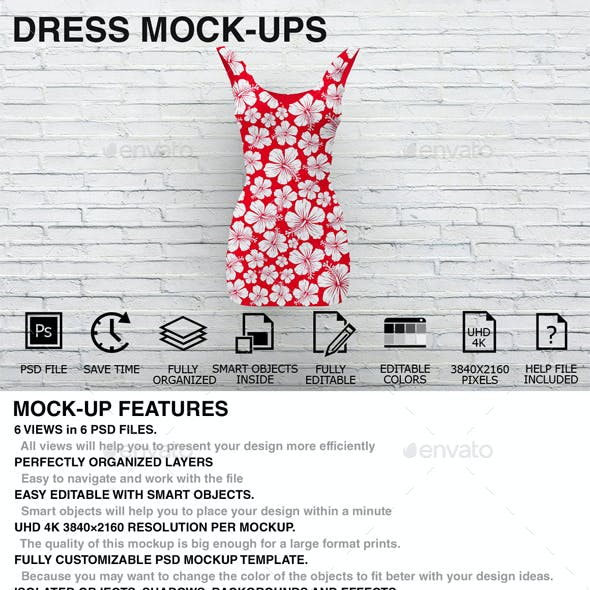 Dress Mockups - Women Clothing Mockups