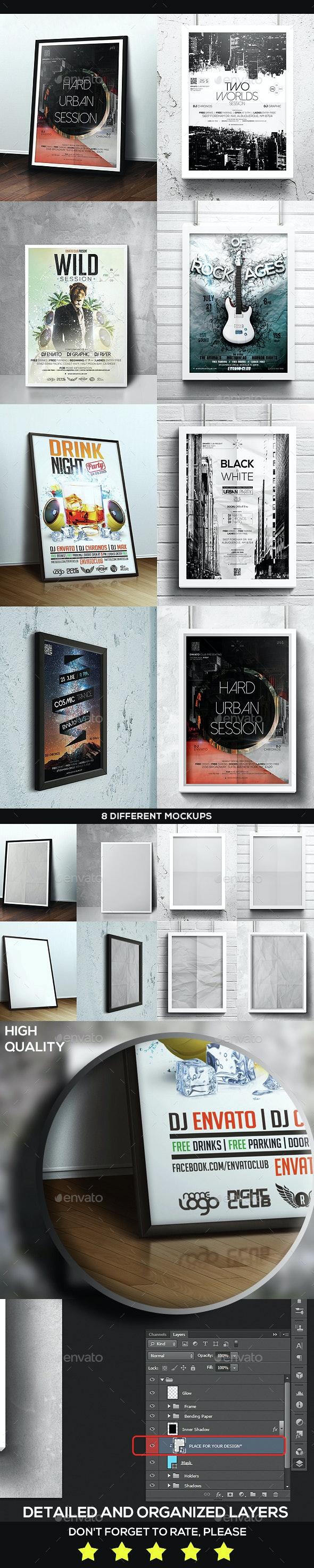 Framed Poster Mock-Up Bundle - Posters Print