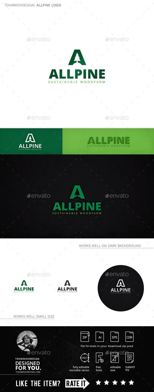 Allpine Fir Tree Letter A Logo Template By Tovarkov Graphicriver