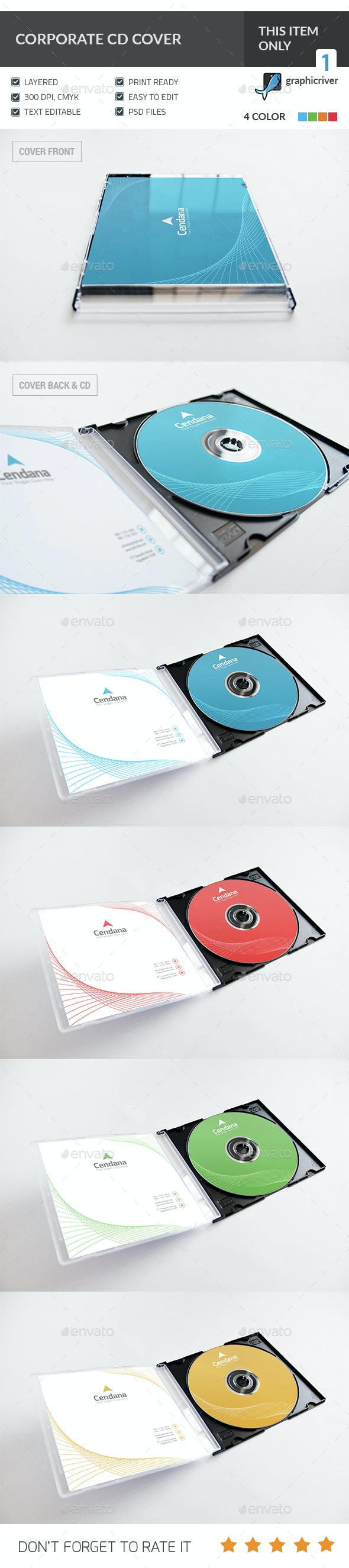 Corporate CD/DVD Cover - CD & DVD Artwork Print Templates