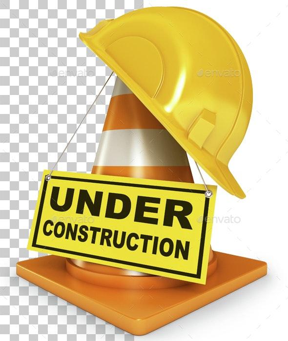 Helmet for builder worker. 3d render - Miscellaneous 3D Renders