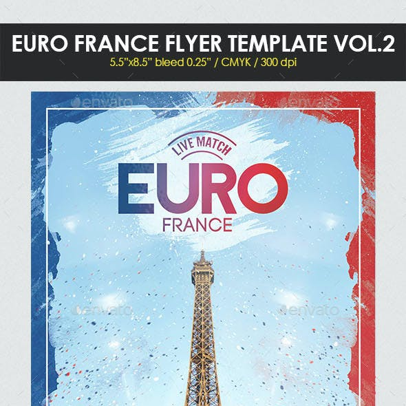Euro France Flyer Template Vol. 2
