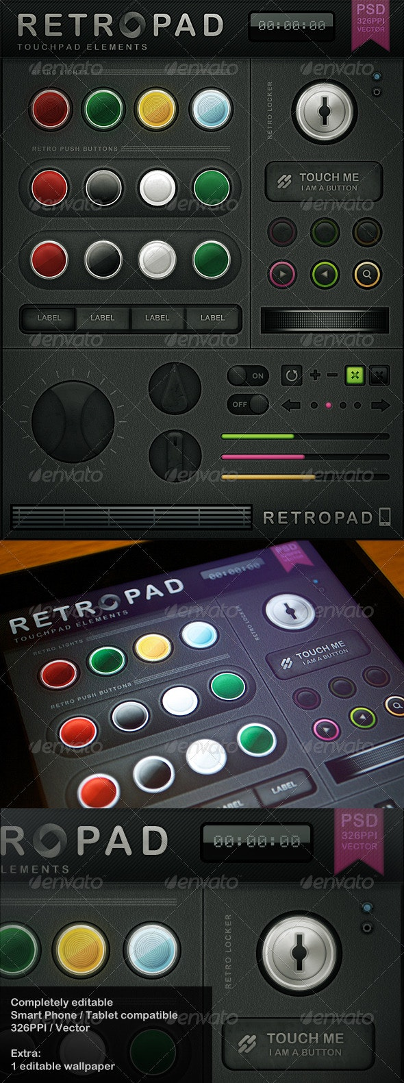 Retropad - Touch User Interinterface - User Interfaces Web Elements