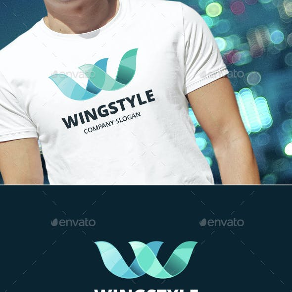 Wings W Letter Logo