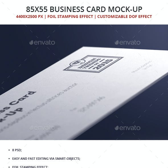 85x55 Business Card Mock-up