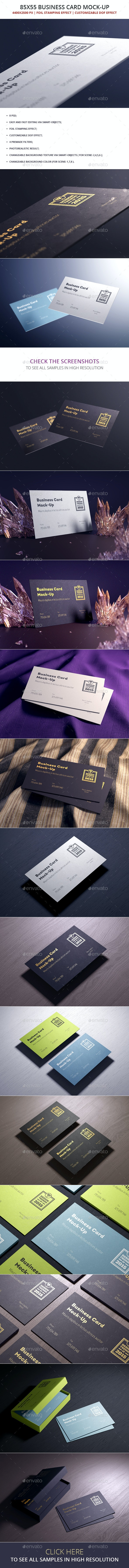 85x55 Business Card Mock-up - Business Cards Print