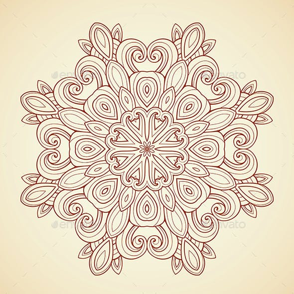 Mandala in Indian Style