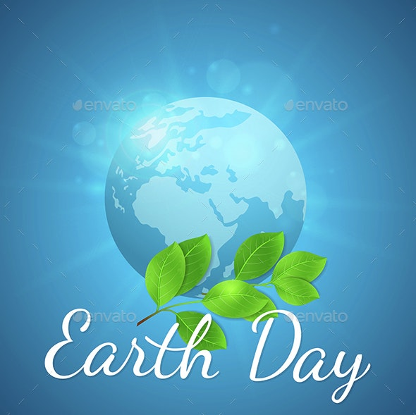 Earth and Green Branch - Miscellaneous Vectors