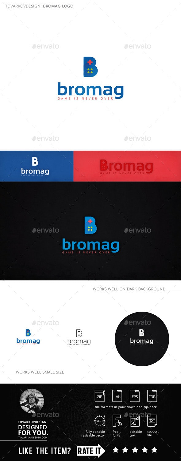 Bromag Controller Letter B Logo Template - Letters Logo Templates
