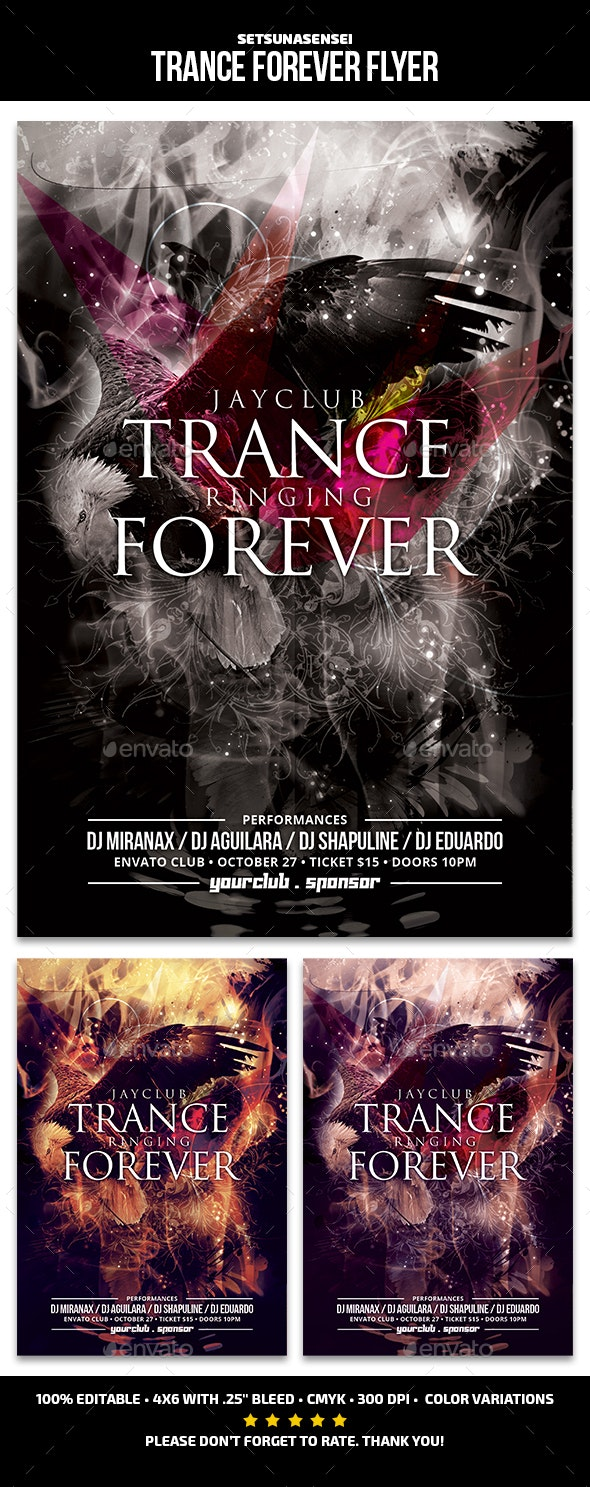 Trance Forever Flyer - Clubs & Parties Events