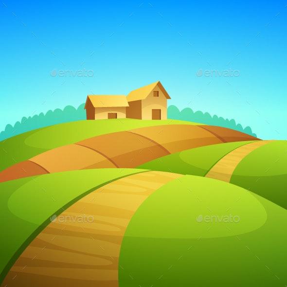 Farm Landscape - Buildings Objects