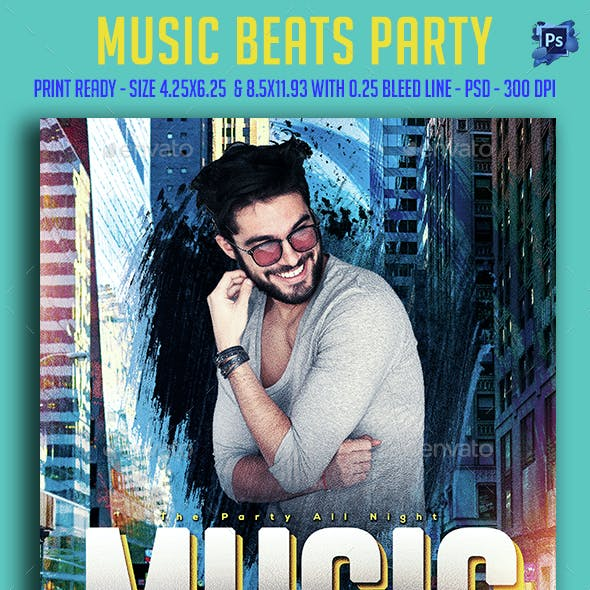 Music Beats Party Flyer