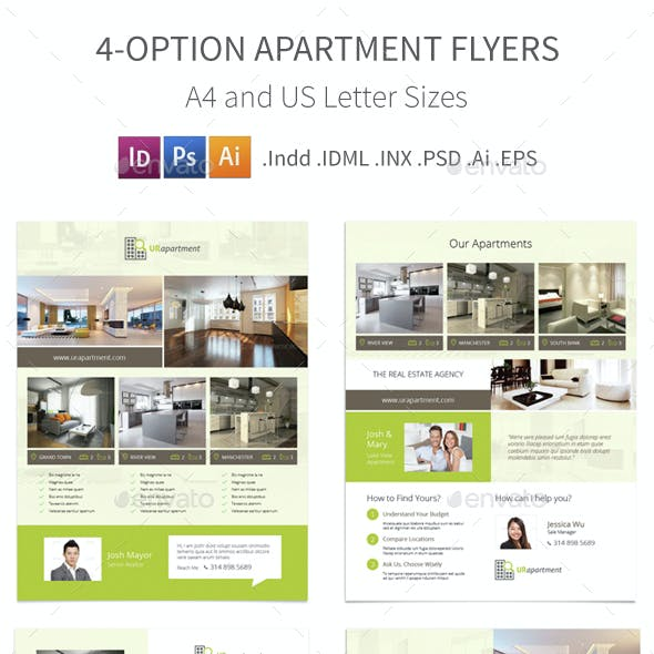 Apartment For Rent Flyers – 4 Options