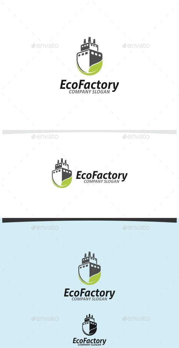Eco Factory - Buildings Logo Templates