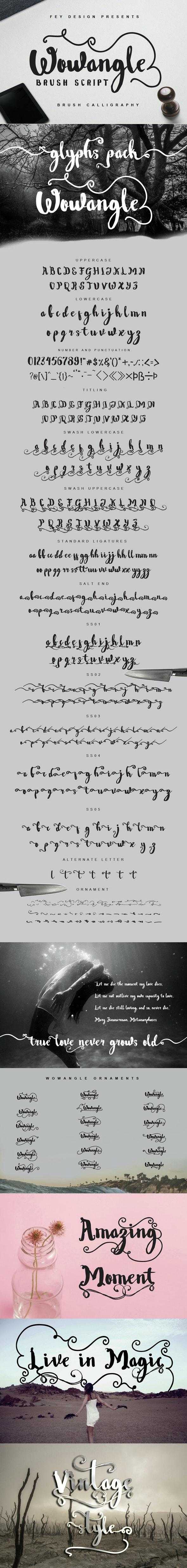 Wowangle Brush Script Font - Hand-writing Script