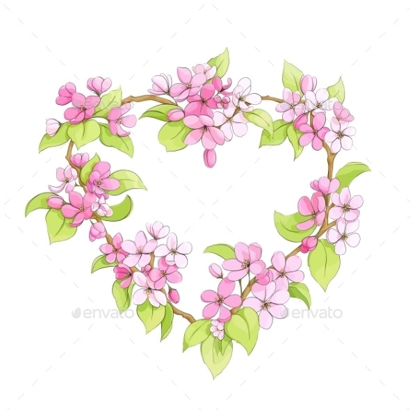 Bright Floral Heart - Flowers & Plants Nature