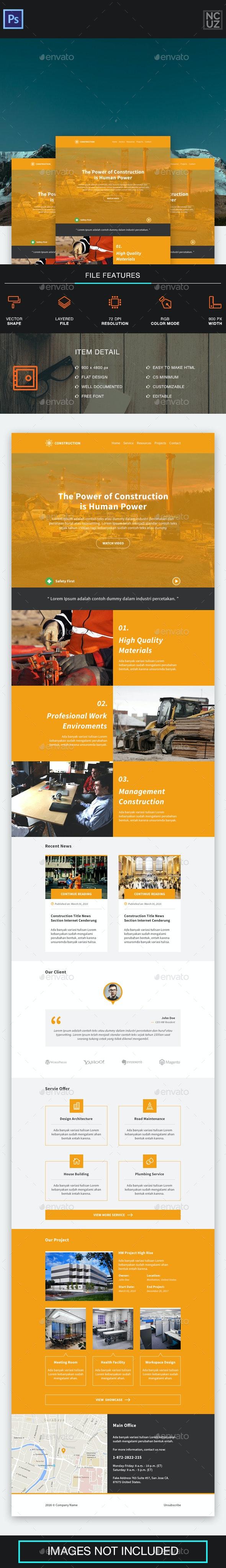 Construction Company E-newsletter - E-newsletters Web Elements