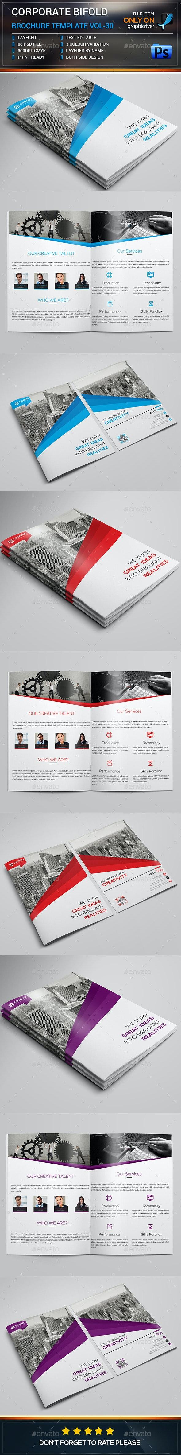 Corporate Bifold Brochure Template  - Brochures Print Templates