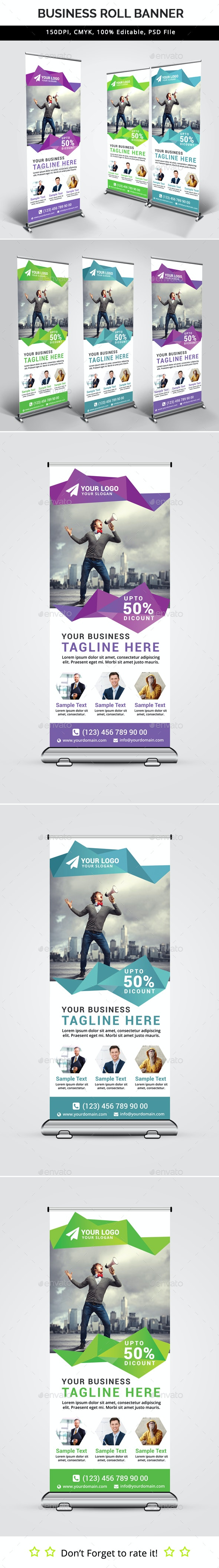 Business Roll Up Banner V32 - Signage Print Templates