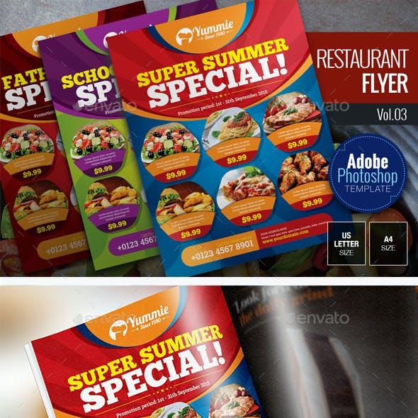 Restaurant Flyer Vol.03