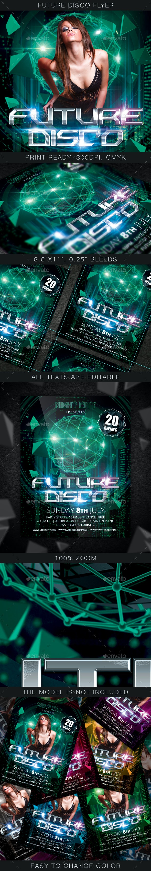 Future Disco Flyer - Clubs & Parties Events