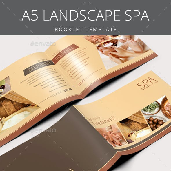 A5 Landscape Spa Brochure