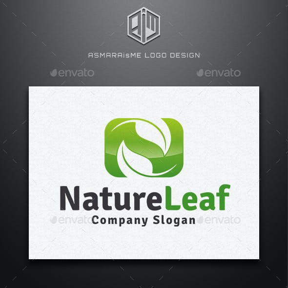 Nature Leaf - Letter N Logo