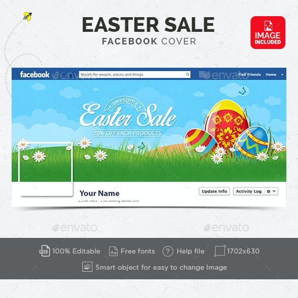 Easter Sale Facebook Cover