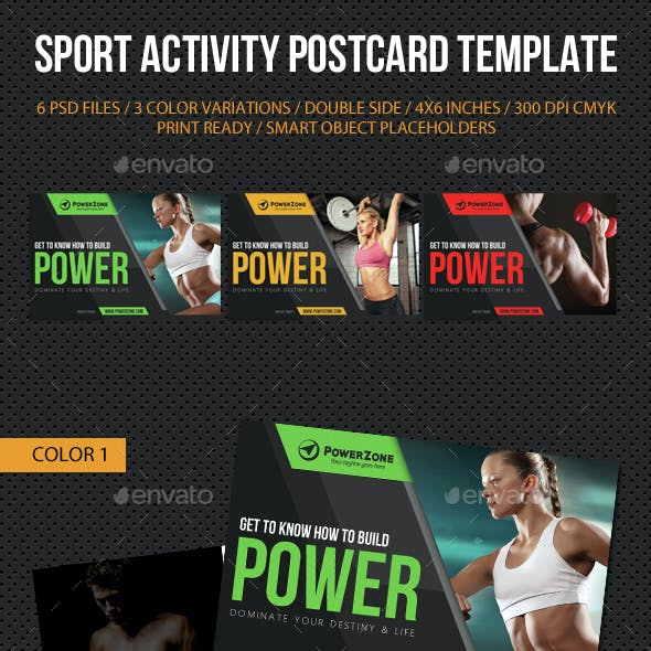 Sport Activity Postcard Template V11