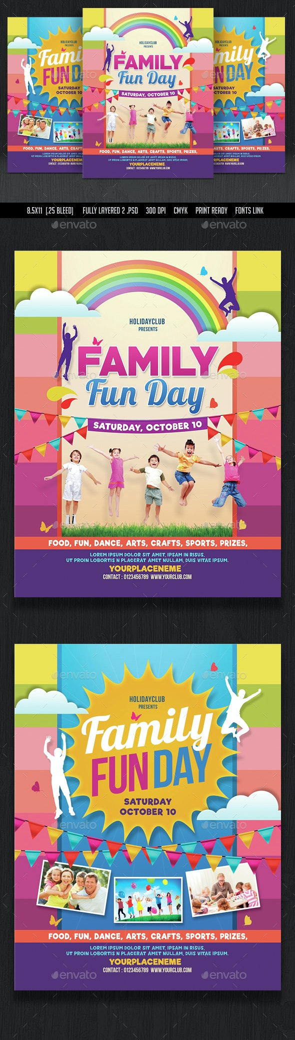 Family Fun Day Flyer - Events Flyers