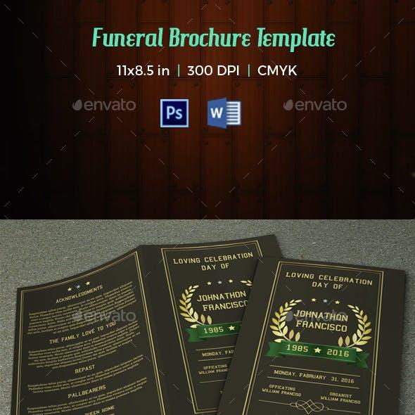 Funeral Program Template-V34