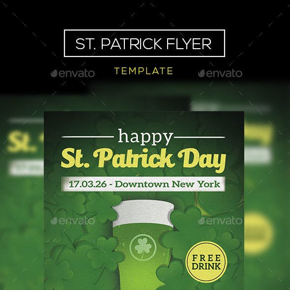 St. Patrick Event Flyer