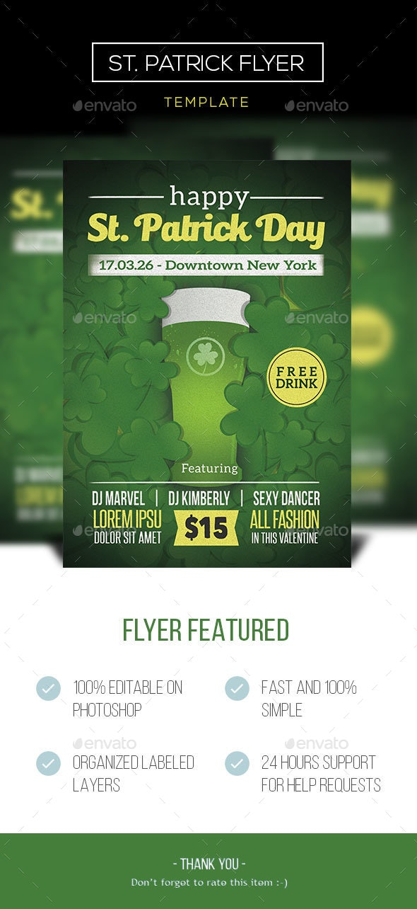 St. Patrick Event Flyer - Events Flyers