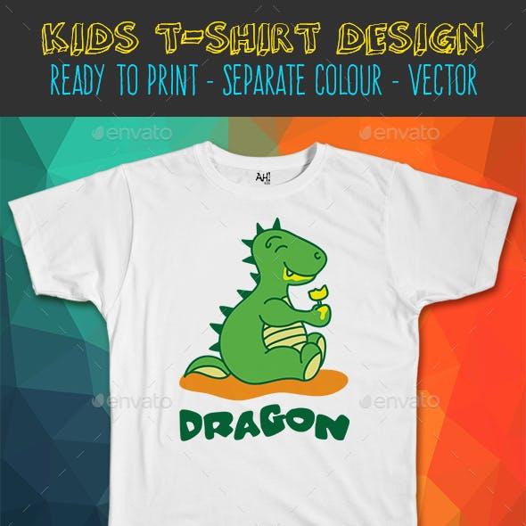 Dragon Ice Kids T-shirt Design