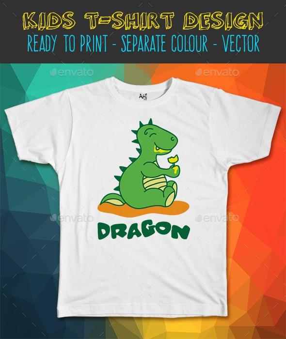 Dragon Ice Kids T-shirt Design - Funny Designs