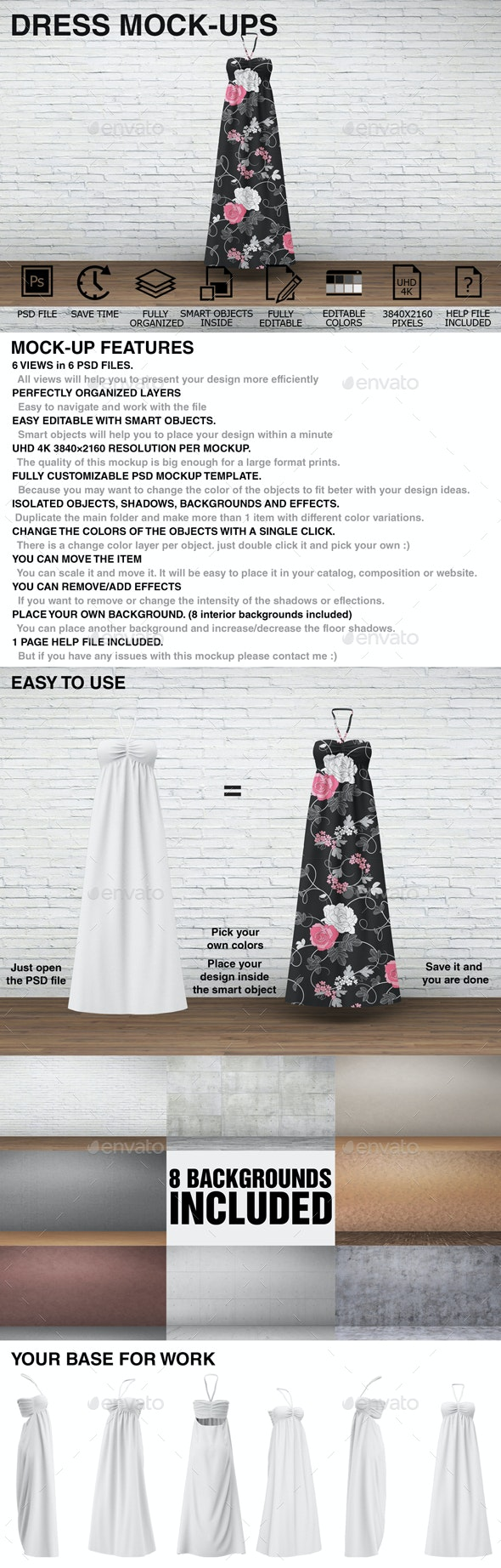 Dress Mockups - Clothing Mockups - Miscellaneous Apparel