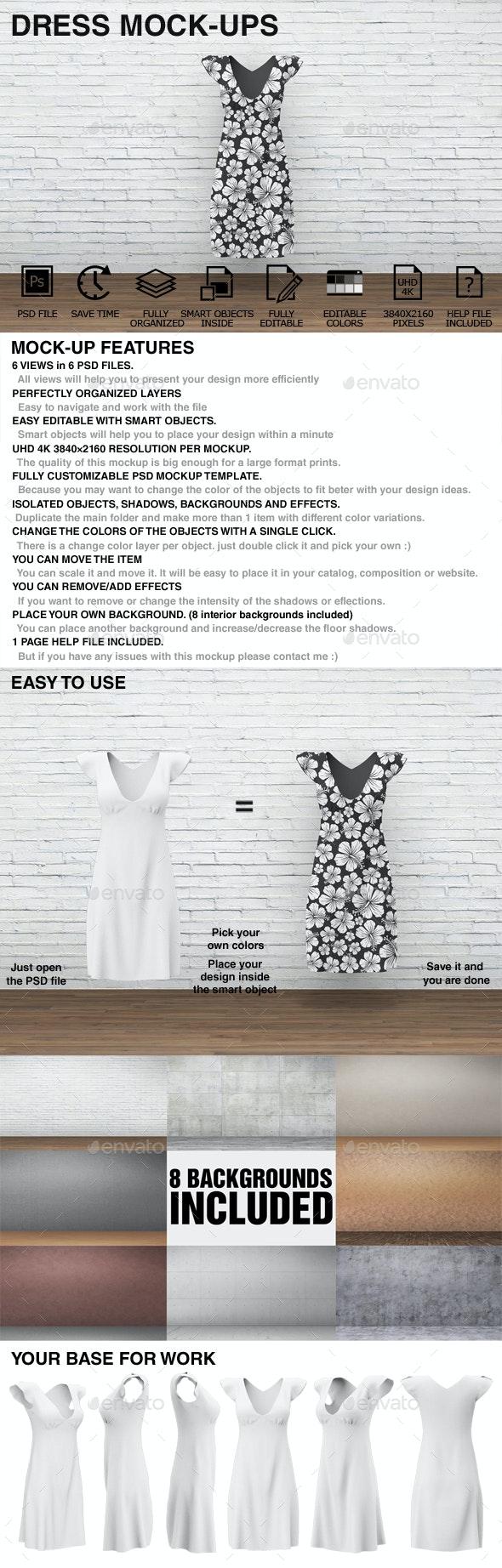 Dress Mockups - Clothing Mockups - Miscellaneous Apparel