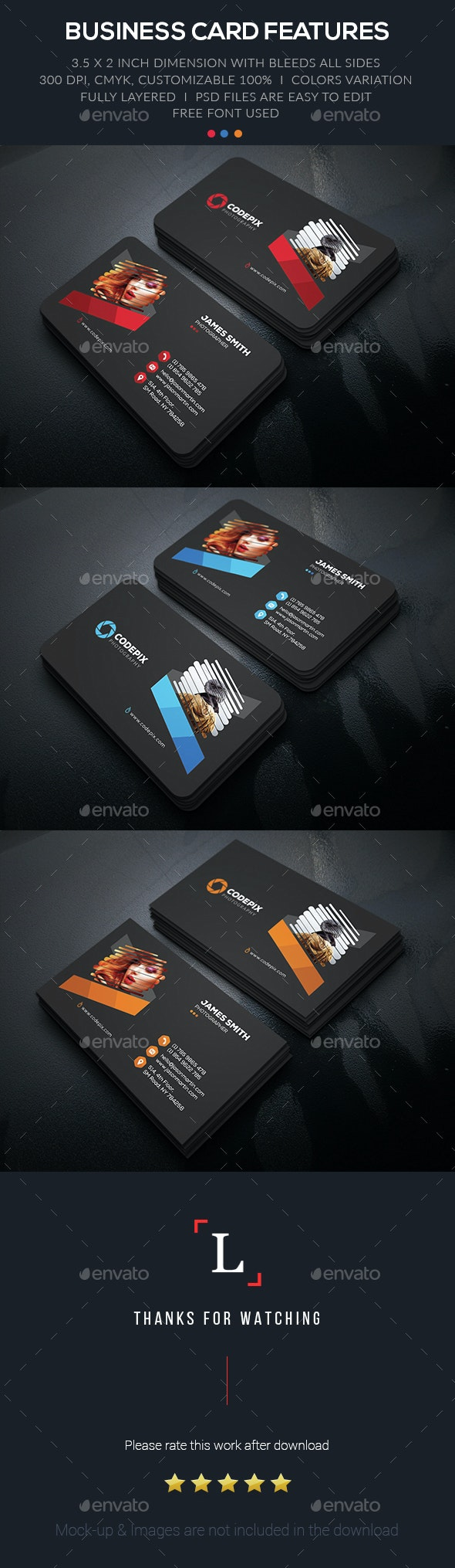 Creative Photography Business Card - Business Cards Print Templates