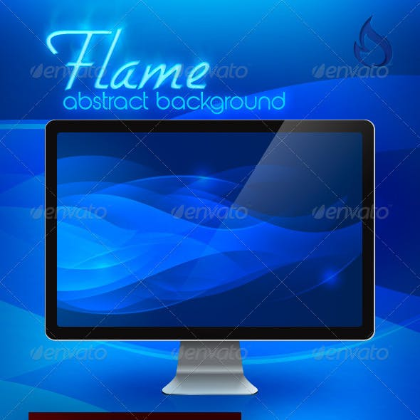 Flame Abstract Background