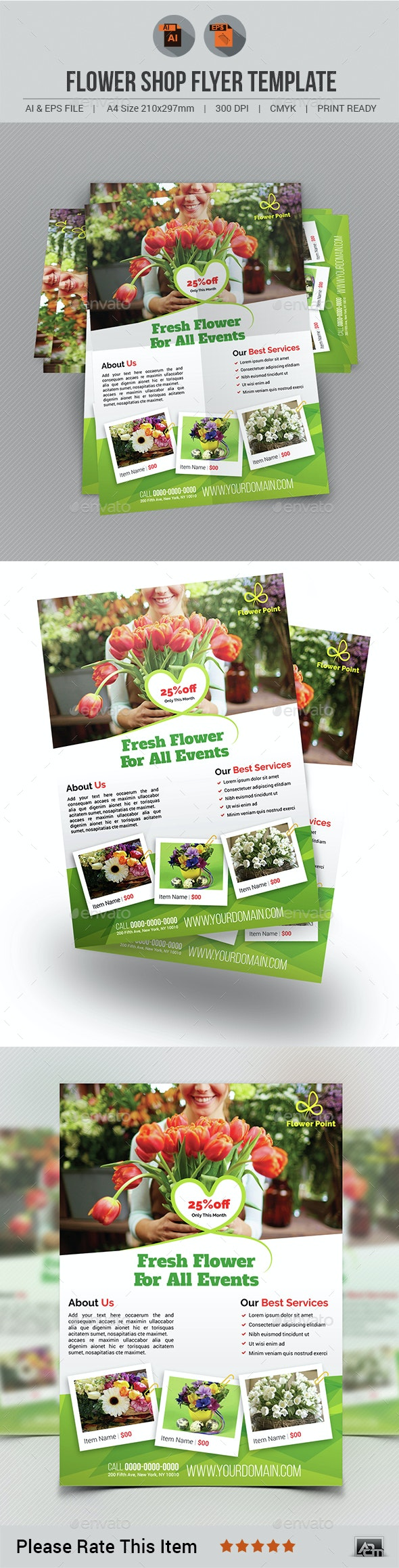 Flower Shop Flyer Template - Commerce Flyers