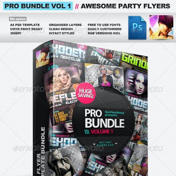Pro Bundle Vol.1 - 3x PSD Party Flyer Templates