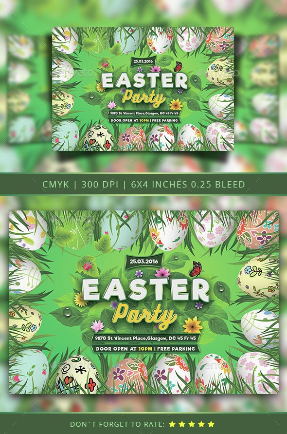 Easter Flyer Template - Holidays Events