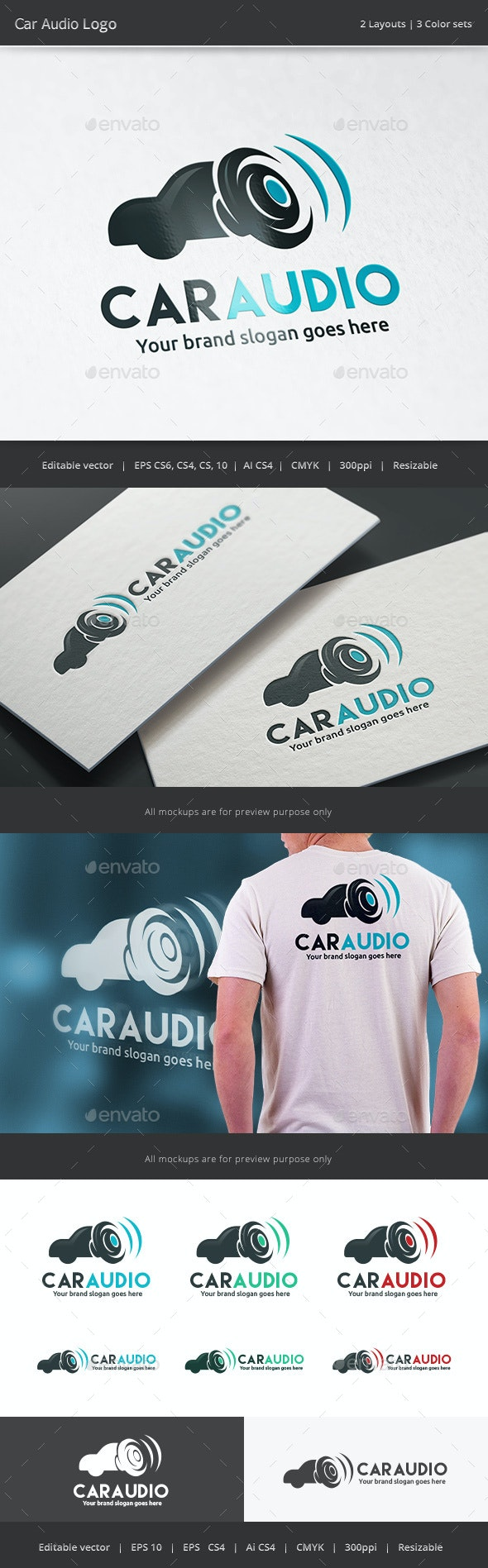 Car Audio Logo - Vector Abstract