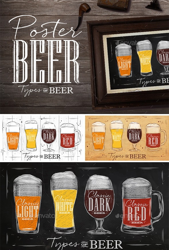 Beer Type Posters - Food Objects