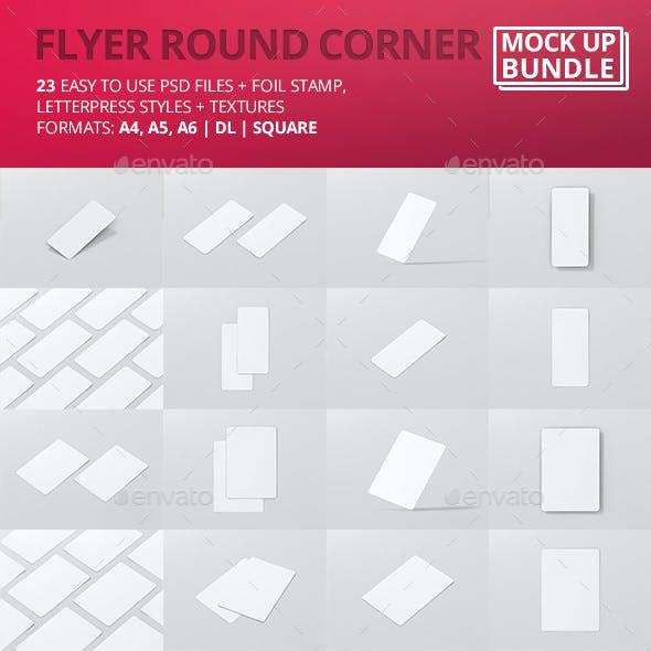 Flyer Mock-Up Round Corner Bundle