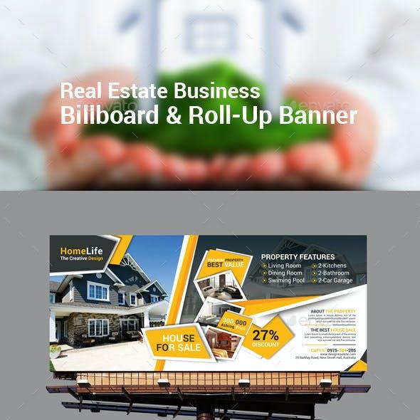 Real Estate Business Billboard & Roll-Up Banner