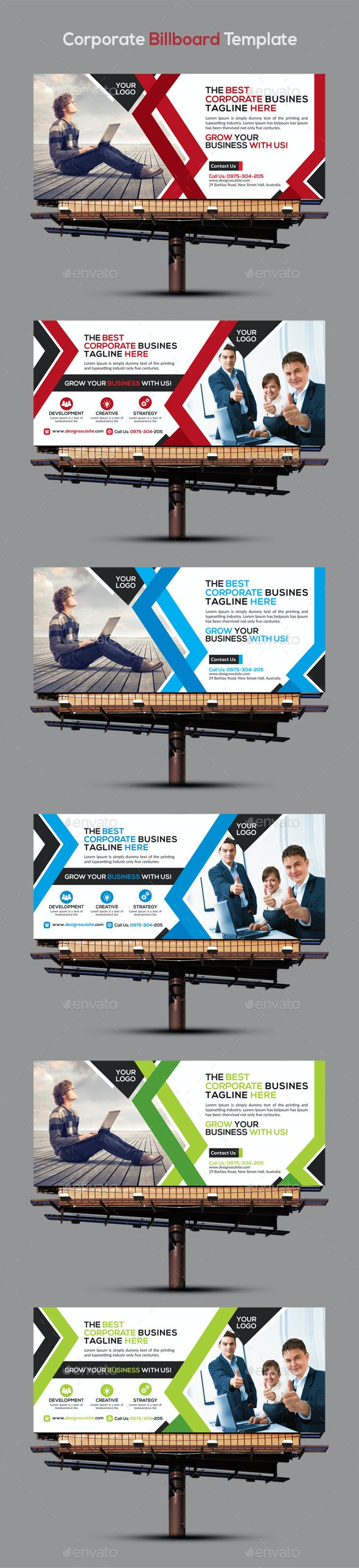 Corporate Billboard Template - Signage Print Templates